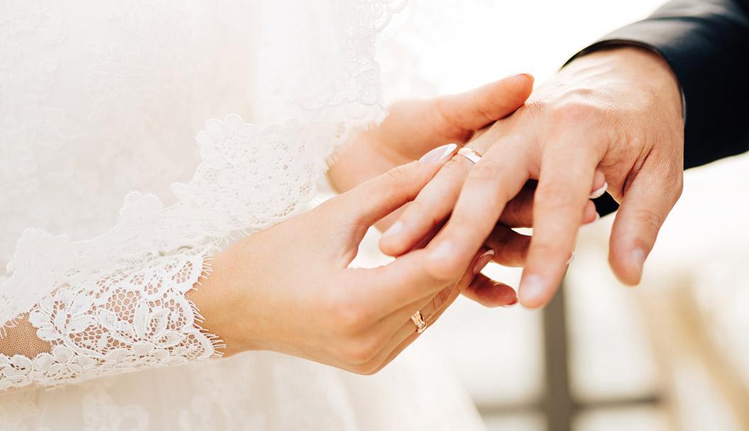 verheiratete mit Ringen