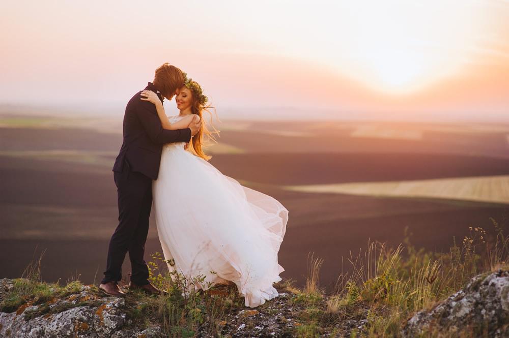 Hochzeit in der Natur Berg