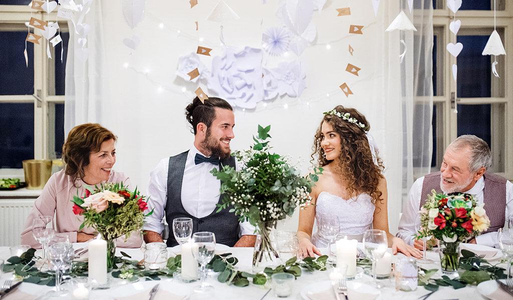 Sitzordnung auf einer Hochzeit