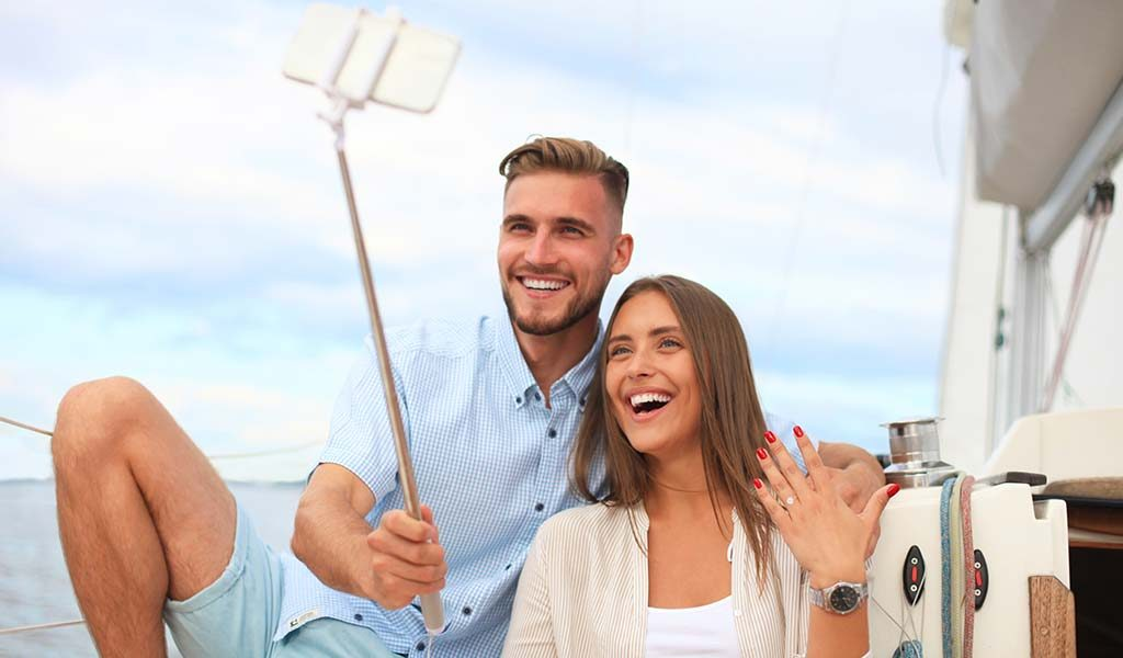 couple taking selfie