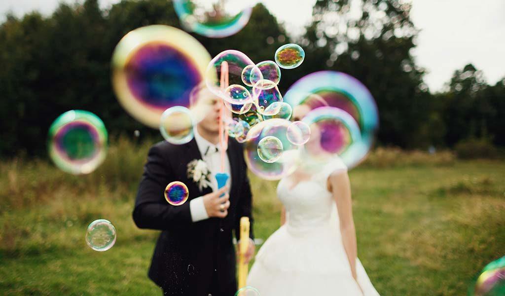 wedding favours bubbles